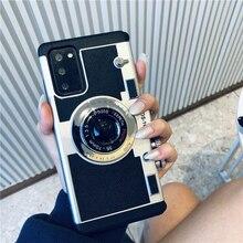 3Dกล้องโทรศัพท์กรณีสำหรับSamsung Galaxyหมายเหตุ20 Ultra VintageกรณีกลับสำหรับSamsung Galaxy Note20