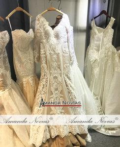 Image 4 - Lace mermaid wedding dress customer order color 2019 bride dress