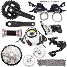 Shimano DEORE M6000 9 PCS 3X10 2x10 Speed Groupset HG500 10 11 42T M6000 Schaltwerk Schalthebel Kurbel Bremse rotoren