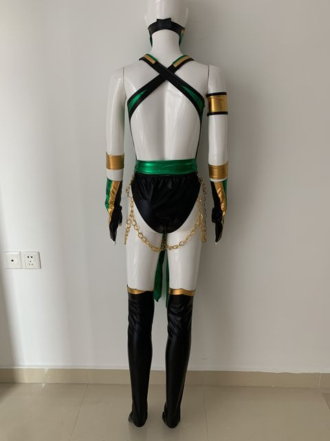 Video Game Morta Kombat X Cosplay Jade Costume Custom Made 2