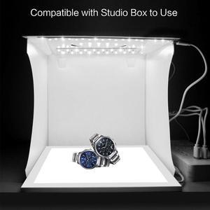 Image 2 - מיני מתקפל Lightbox צילום צילום סטודיו Softbox מצלמה רך אור עבור DSLR תמונה רקע 2 LED פנל תיבת אור קי