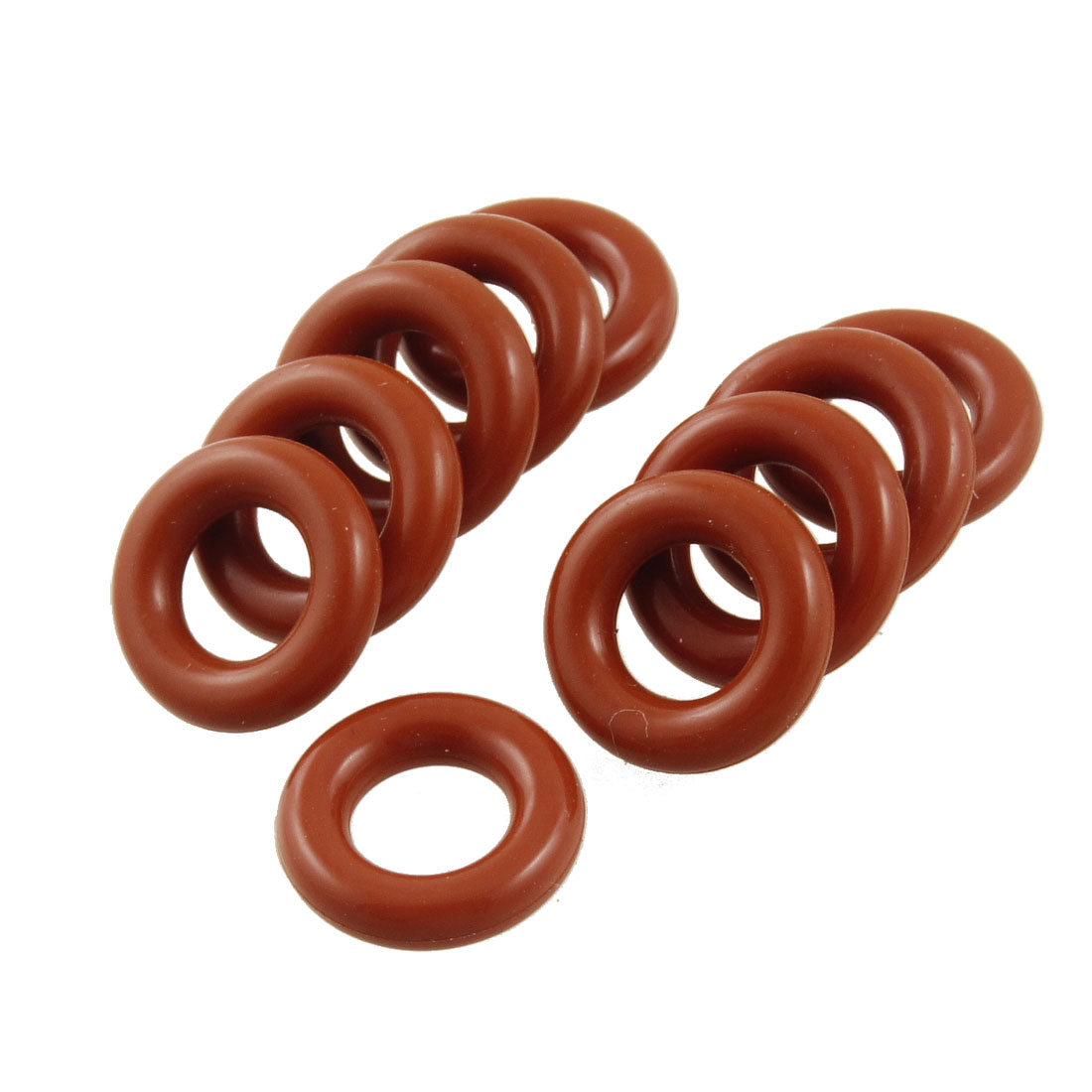 UXCELL 10 Pcs Silicone <font><b>O</b></font> <font><b>Ring</b></font> Seal Sealing <font><b>7mm</b></font> x 13mm x 3mm image