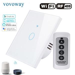 Image 2 - Vovoway האיחוד האירופי מגע מתג, מתג אור, WIFI רשת + טלפון נייד APP + RF אלחוטי שליטה פונקציה, 1gang2gang3gang AC110 V220V