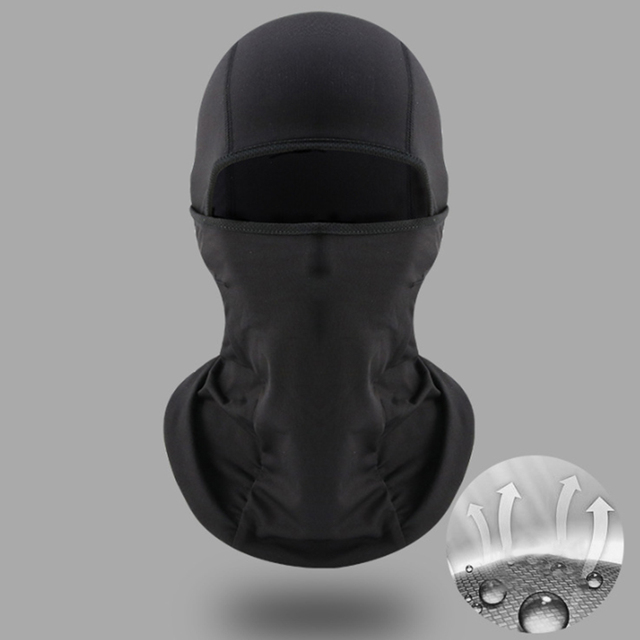 Universal Motorcycle Face Mask Balaclava Warm Windproof Breathable Cycling Ski Face Shield Helmet Mask Black 1