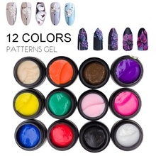 12 Color Sculpture Nail Gel 4D Carved Plasticine 3D UV