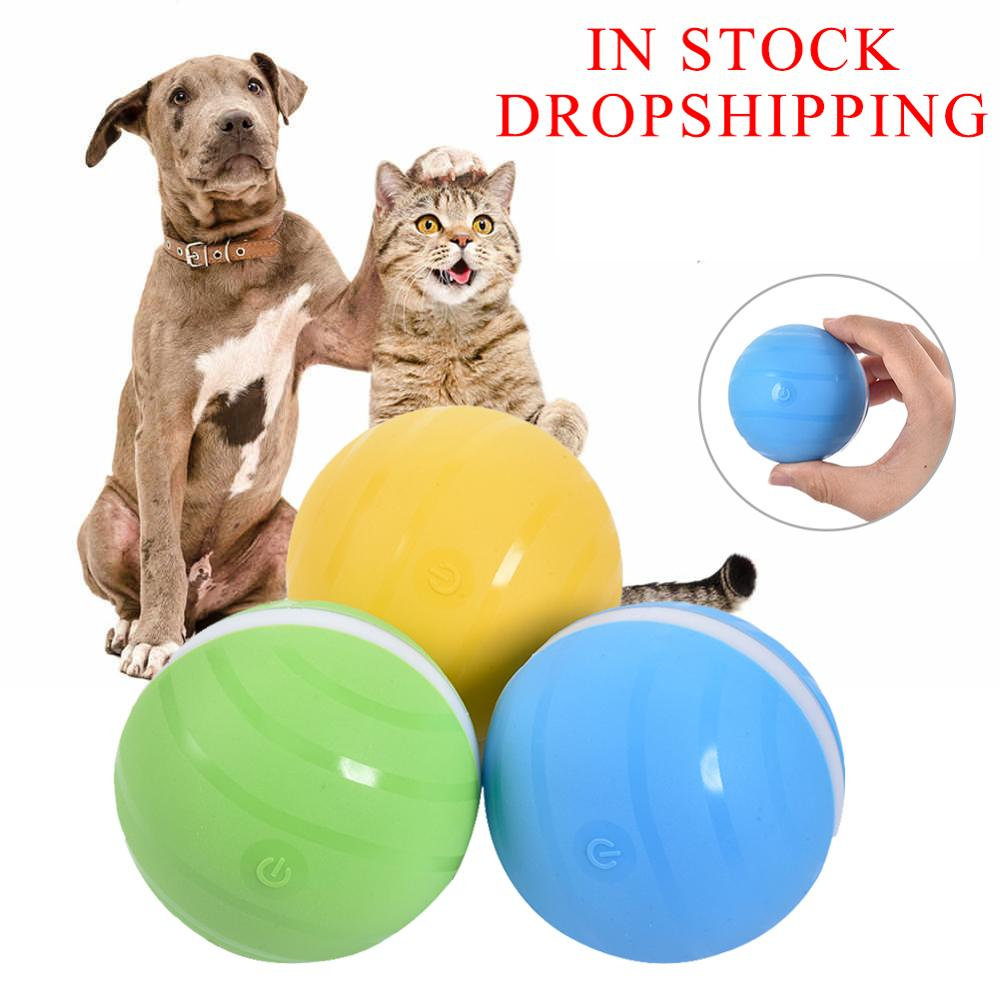 Safety Waterproof Pet Jumping Ball USB Electric Pet LED Rolling Flash Ball Funny Toy Home Pet Dog Cat Toys DropShipping