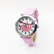 Cartoon Pink Sloth Watch For Girls Kids Children Students Quartz Wrist
