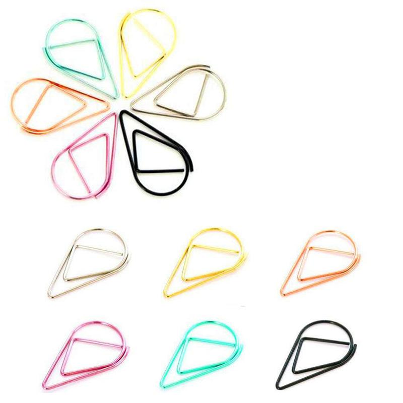 Decorative Binder Clips Foldback Clip Document Binder Clips Artistic New Shape 30 X Paper Clip 2.5cm