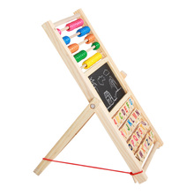 Wooden Toys Counting Cognition Board Multifunction Abacus Learning Stand  Early Learning Educational Math Drawing Toy for Kids toy math board games for adults russian learning resources homeschool kids tiny toys educational penguin