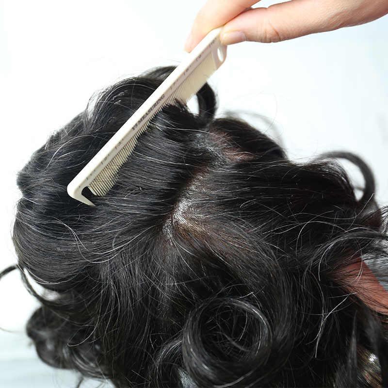 Sistema de reemplazo del pelo del tupé de los hombres de la piel súper fina para los hombres 100% pelo humano v-loop peluches Rosa Queen
