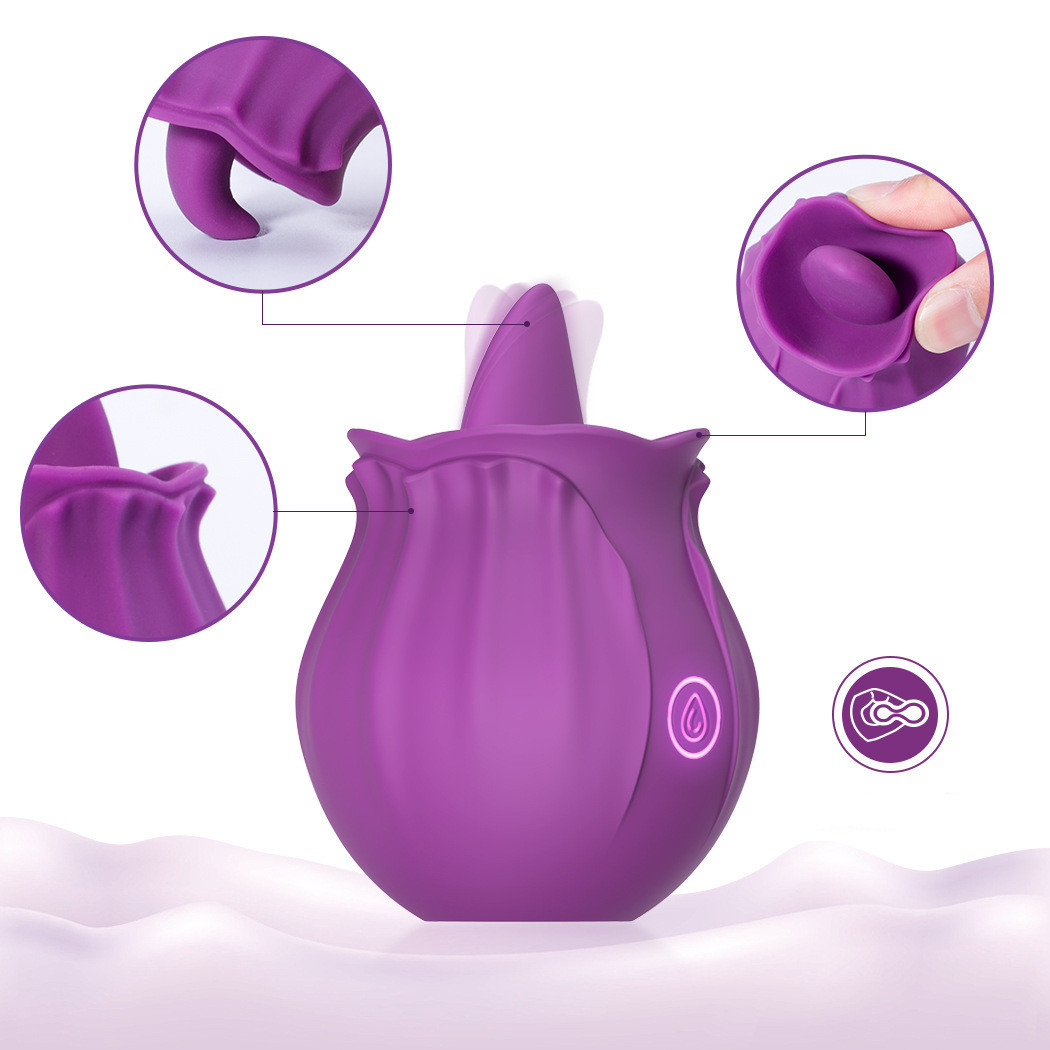 Clitoral Sucking Vibrator Intense Suction Tongue Lick Clit Stimulator Nipple Massager Sex Toys For Woman Oral Sex Rose Vibrator img4