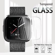 Закаленное стекло для Fitbit Versa, Защита экрана для умных часов Fitbit Versa Lite, Взрывозащищенная прозрачная пленка с защитой от царапин