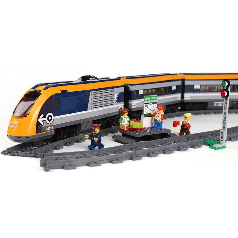 02117 City Train Treno Passeggeri Set Compatibile Con 60197 Blocchi di Costruzione di Mattoni Giocattoli Per Bambini Come Regali Di Compleanno Di Natale-in Blocchi da Giocattoli e hobby su  Gruppo 2