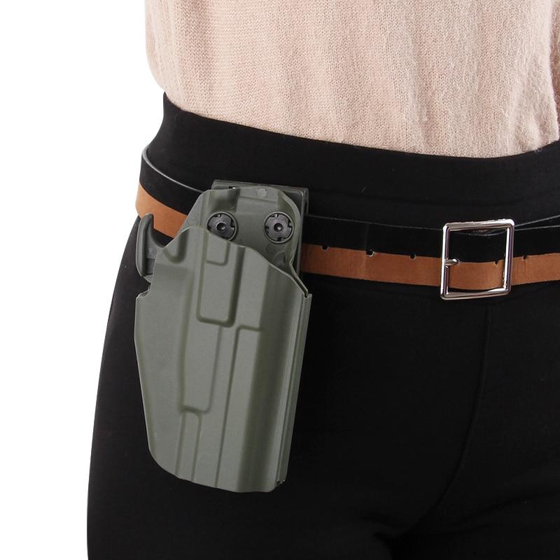 Tactical Gun Holster Compact Glock17 18 19 Sig Sauer P226 Colt M1911 Quick Draw Hunting Handgun Universal Holster Belt Clip Shim