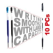 10 шт 424 черные, голубые чернила гелевая ручка заправка l98мм Замена для перезарядки для металлической шариковой ручки нейтральная Заправка для офиса и школы