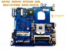 Original para samsung q470c computador portátil placa mãe q470c 500p4c gt630m 2gb BA41 01938A BA92 10431A testado bom frete grátis