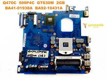 Scheda madre del computer portatile originale per Samsung Q470C Q470C 500P4C GT630M 2GB BA41 01938A BA92 10431A testato buona libera il trasporto