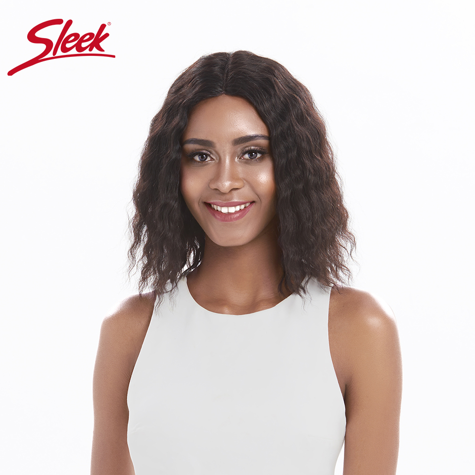 Sleek Short Human Hair Wigs Body Wave Soft Fluffy 12 Inch 150% Density Middles Part Lace Wigs Fast SHipping From Rebecca Hair