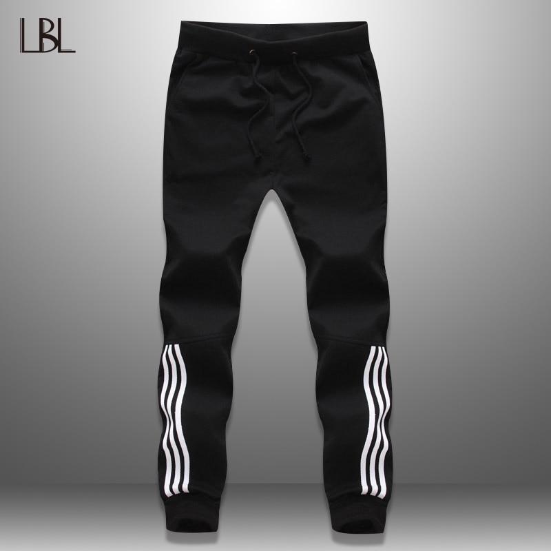 2019 New Fashion Tracksuit Bottoms Mens Casual Pants Cotton Sweatpants Mens Joggers Striped Pants Gyms Clothing Plus Size 5XL
