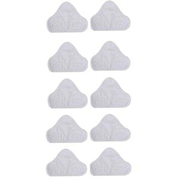 Paquete de 10 almohadillas de repuesto de microfibra para mopa H2O X5 Triangular Drag