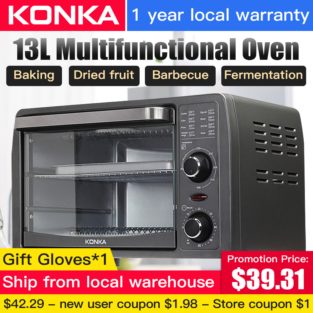 KONKA 13L Multifunctional household electric oven Durable Mini Intelligent Timing Baking/Dried fruit/Barbecue Bread baking(China)
