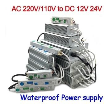 12V 24V Power Supply IP67 Waterproof 12v Transformer led Driver power supply 10W 20W 30W 50W 80W 100W 120W 150W 200W 250W 300W