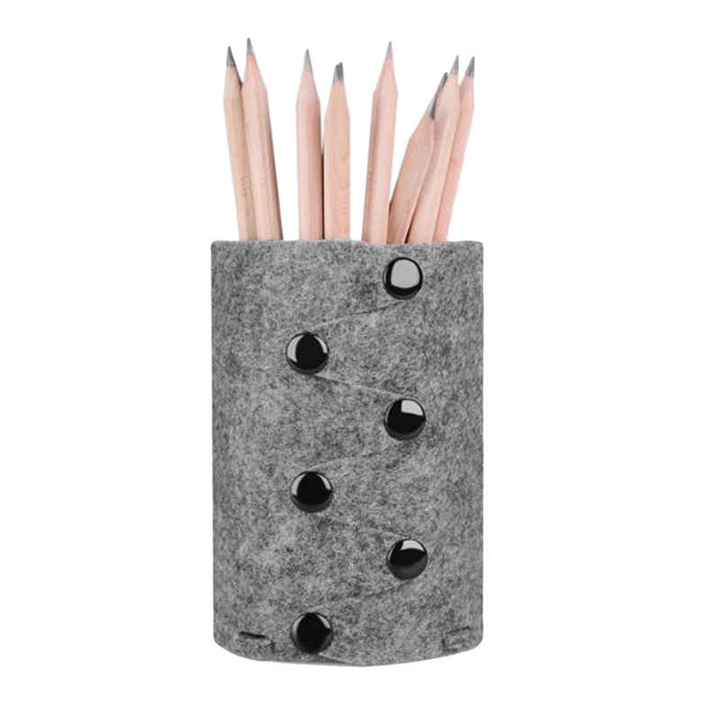 Pen Holder Office Organizer Round Cosmetic Pencil Pen Holders Desk Decoration Design Table Packaging Pencil Pen Holder DIY Felt