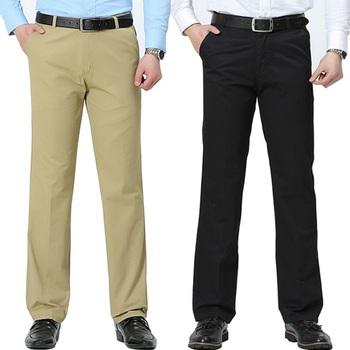 Letnie lekkie luźne wygodne kieszenie garnitur spodnie męskie proste wysokiej jakości Korea moda Bussiness spodnie dla mężczyzn tanie i dobre opinie CN (pochodzenie) COTTON Na wiosnę i lato Elegancko na luzie Daily Mieszkanie na zamek błyskawiczny Spodnie garniturowe