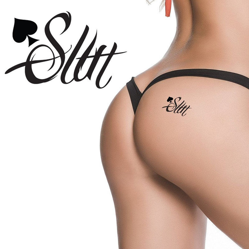 BEEGER SLUT - Queen Of Spades Cuckold Temporary Tattoo Fetish For Hotwife Cuckold Swinger Lifestyle