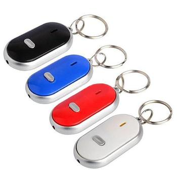 Anti-Lost LED Key Finder Find Locator Keychain Whistle Beep Sound Control Torch
