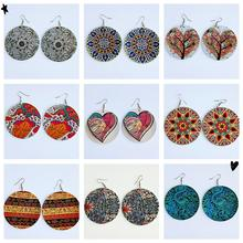 SUN-NY African Women Natural Hair Art Wooden Drop Earrings Afro Wood Dangle Jewelry For Ladies Christmas Gifts unfinished wood printing africa girl round drop earrings wooden african hiphop tribal handmade diy jewelry natural accessories
