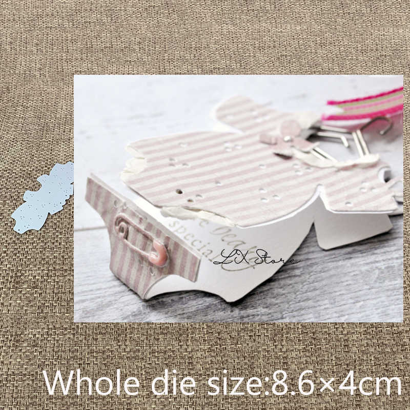 New Design Craft Metal die cuts Cutting Die Baby clothes box decoration scrapbooking Album Paper Card Craft Embossing die cuts