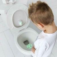 Малыш цель туалет горшок ночник обучение легко быстро Забавный Активированный датчик движения проекционная лампа