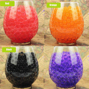 100PCS Crystal Soil Mud Grow Up Water Beads Cute Hydrogel Magic Gel Jelly Balls Party Gift Babies for Vase Flower Decoration E