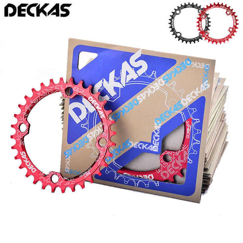 DECKAS 32 T-38 T 104bcd MTB จักรยาน Chainring แคบกว้างรูปไข่ Crankset สกรูสำหรับจักรยาน