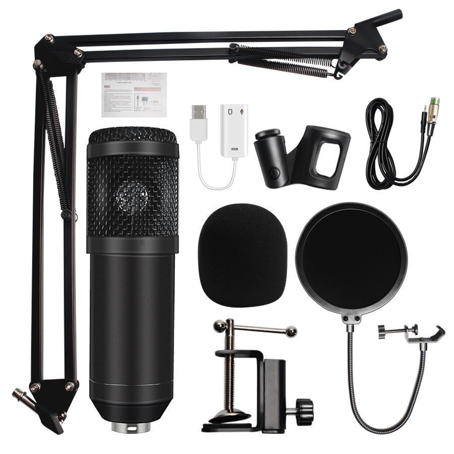 Micro de Studio microfone bm 800 Microphone d'enregistrement sonore à condensateur professionnel microfone bm800 pour ordinateur