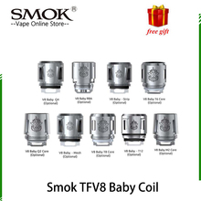 Original Smok TFV8 Baby Coil Head V8 Baby T8 T6 X4 Q2 Q4 M2 Core For TFV8 big BABY Tank V12 baby prince tank 100% original smok tfv8 big baby beast tank atomizer 2ml eu version w v8 baby q2 eu core top refill system 0 4ohm vs tfv12