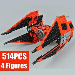 Image 3 - New Tie Fighter Model Fit Star Wars Figures Technic Model Kit 75179 Model Building Blocks Bricks Diy Toys for Children Gifts Kid