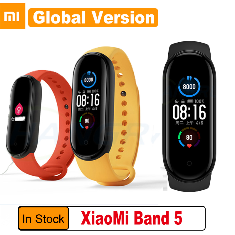 Xiaomi Smart Bracelet Traker Mi-Band Fitness Global-Version Bluetooth Sport 5 Waterproof