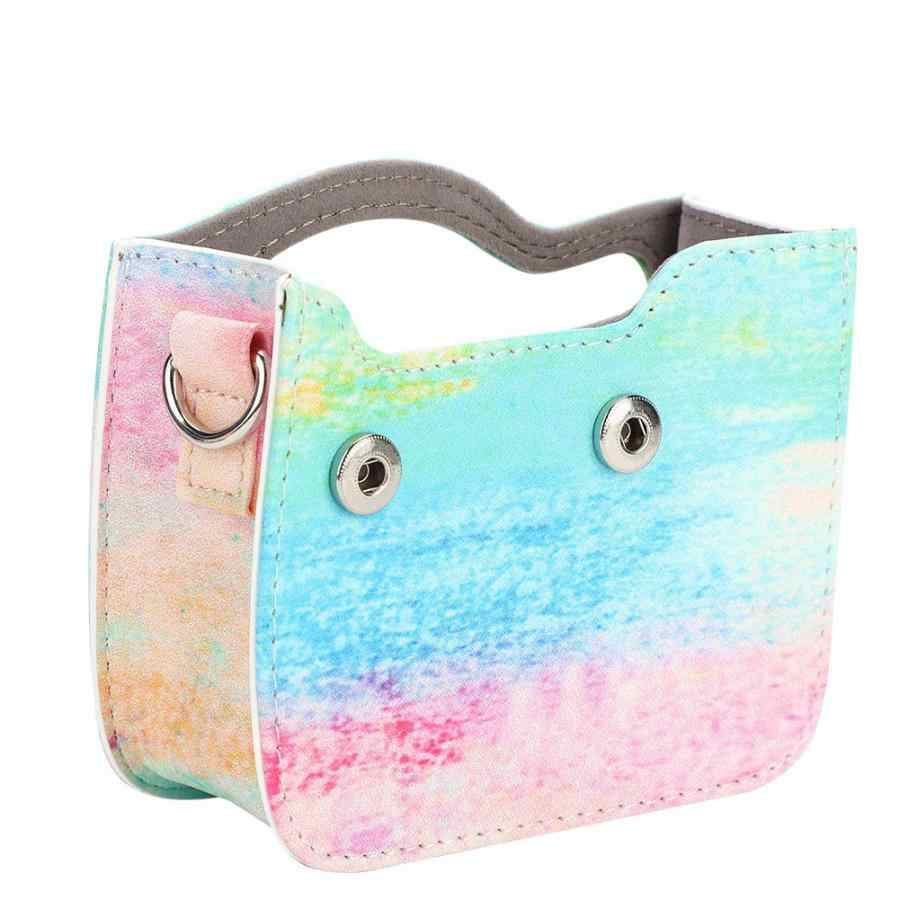 Protective PU Leather Camera Case Bag Anti-Scratch Anti-dust Camera Case with Strap for Fujifilm Instax Mini 90