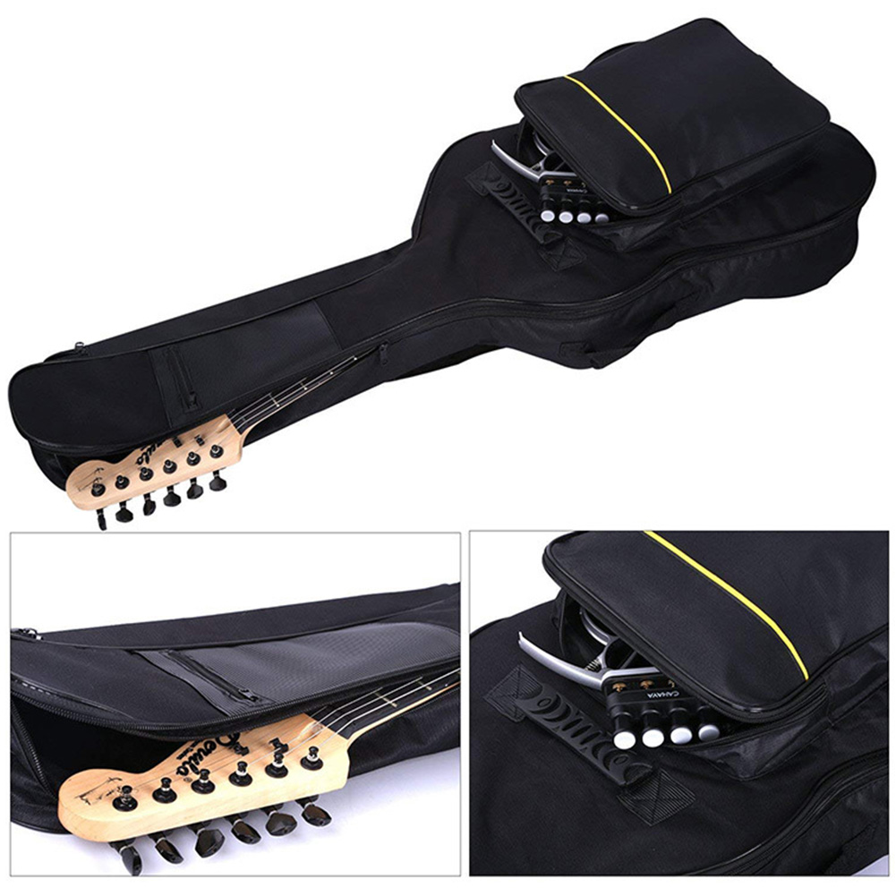 Thicken Case Waterproof Padded Protective Guitar Bag Oxford Cloth Full Size Zipper Pockets Carry Soft Interior Cover Travel