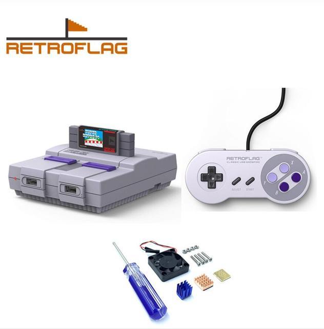 최신 Retroflag SUPERPi 케이스 U 버전 라스베리 파이 3 모델 B + 3B 3B + 케이스 셸 슈퍼 레트로 파이 USB 게임 패드