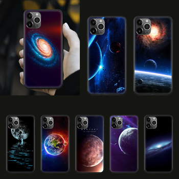 Space moon earth mars Phone Case cover For iphone 5 5S 6 6S PLUS 7 8 12 mini X XR XS 11 PRO SE 2020 MAX black waterproof 3D image