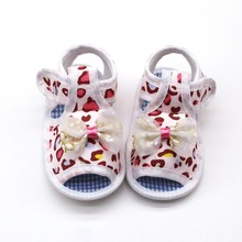 Baby Girl Soft Sole Shoes Anti-slip Print Prewalkers Bowknot Design First Walkers Walking Shoes For Newborn(China)