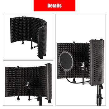 Micrófono capó absorbente de sonido de escritorio con el suelo con el soporte con el filtro Pop de cortesía micrófono de cortesía