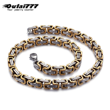 Oulai777 wholesale stainless steel mens necklace men accessories big punk fashion jewelry male gold link chain long necklaces