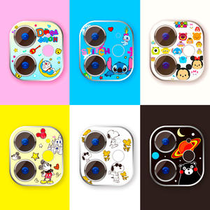 Camera Protector Case Sticker-Cover Tempered-Glass iPhone 11 Cartoon for Cute
