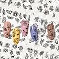 12 шт., водные наклейки для ногтей в виде бабочек