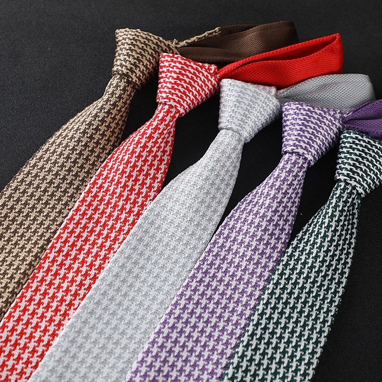 6cm Knitted Tie Fashion Simple Men Tie Business Professional Leisure Neckties  Men Gift Accessories