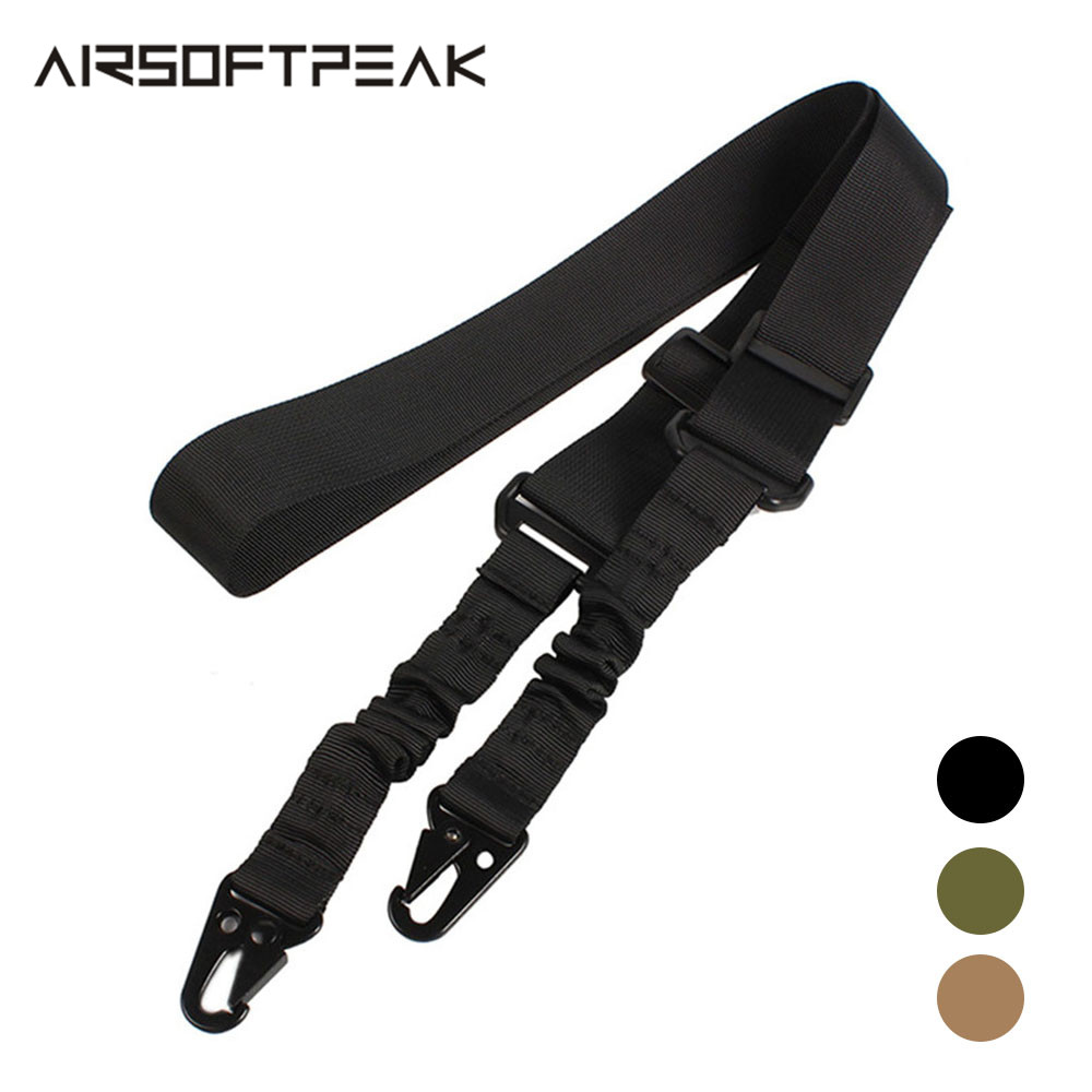 Tactical 2 Point Gun Sling Shoulder Strap Outdoor Rifle Sling With QD Metal Buckle Shotgun Belt Hunting Gun Accessories Tactical